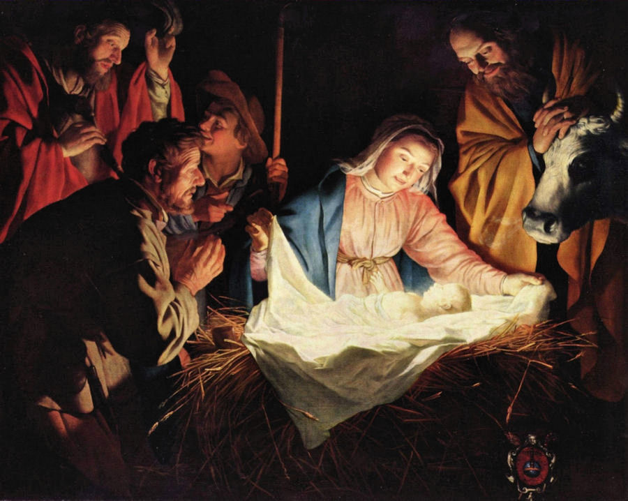 21_Gerard van Honthorst_Adoracja pasterzy_1622